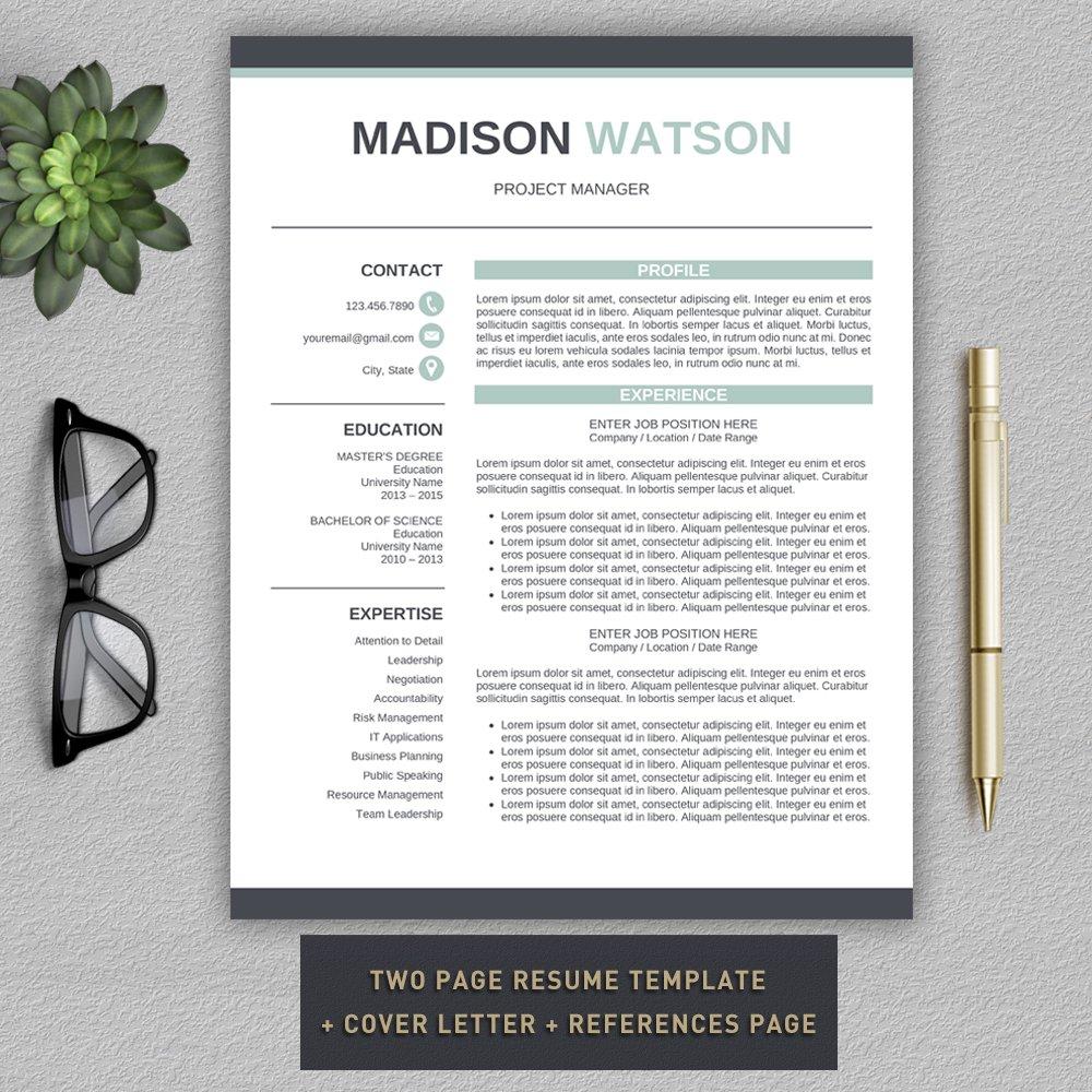 CV + Cover Letter ~ Cover Letter Templates ~ Creative Market