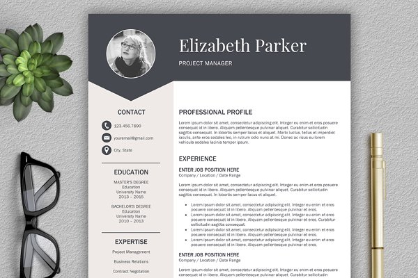 resume_05_preview_08- Template Cover Letter And Cv Graphic Design Minor Tvtb on