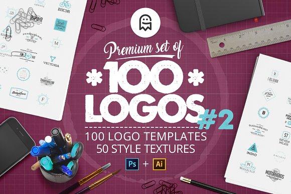 Premium Set of 100 Logos #2-Graphicriver中文最全的素材分享平台