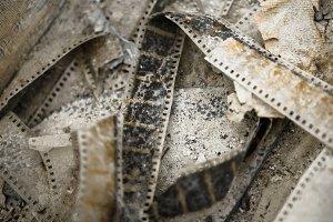 Old film on the floor