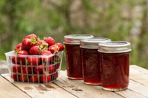 Fresh strawberry jelly or jam
