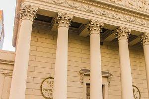Tympanum Column Detail