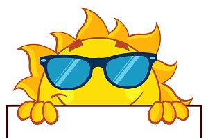 Cheerful Sun Cartoon Character