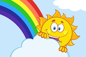 Summer Sun With Rainbow