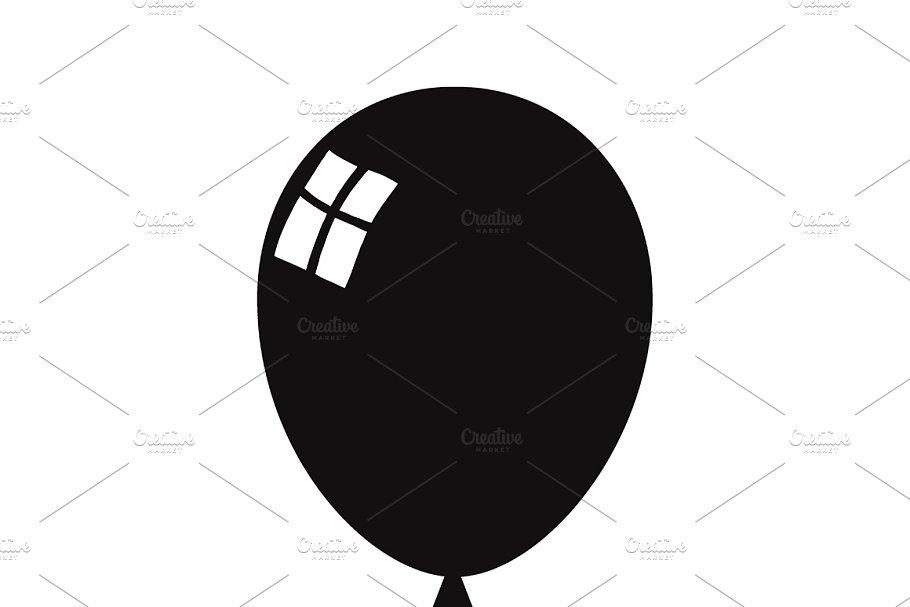 Balloon silhouette. Black icon