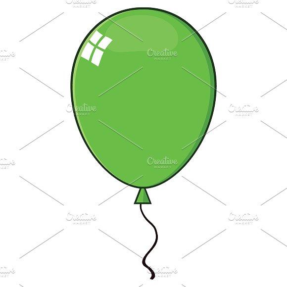 Cartoon Green Balloon