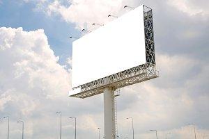 blank billboard on road