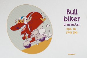 Character - Bull Biker