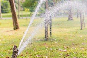 Water Sprinkler in public park.