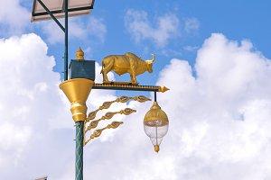 golden cow light bulb