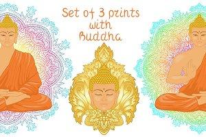 Buddha Print Set