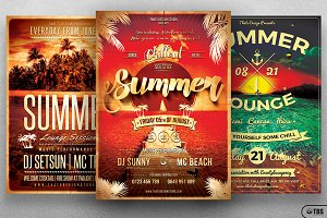 Summer Lounge Flyer Bundle