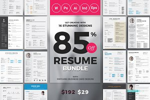 Top Selling Resume/CV Big Bundle