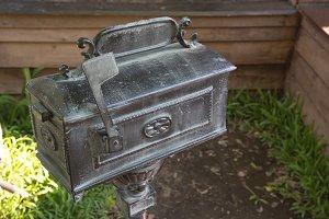 black vintage mailbox