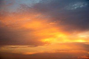 twilight sunset sky for background
