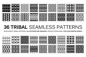 Set of 36 tribal seamless patterns