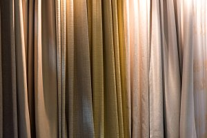 brown curtain for background