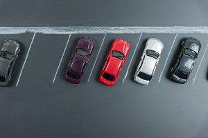 miniature car in car park