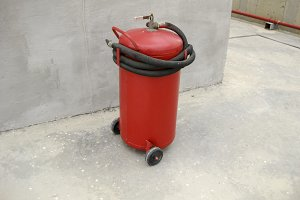 Fire extinguisher. Fire extinguisher. Equipment for extinguishing the flame.