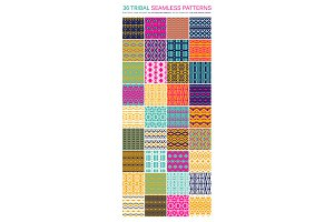 36 Tribal seamless patterns