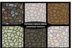 Seamless pattern stones textures
