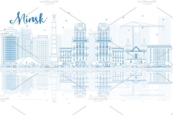 Outline Minsk Skyline