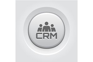 CRM System Icon. Flat Design.