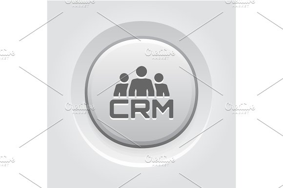 CRM System Icon Flat Design