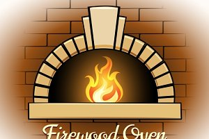 Firewood oven logo or badge