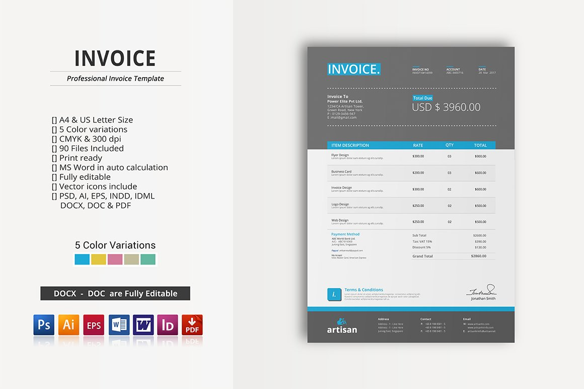 Invoice For Photographers Word Invoice  Stationery Templates  Creative Market Receipt Machines Pdf with Invoices Pdf Excel  Babies R Us Gift Receipt Lookup Word