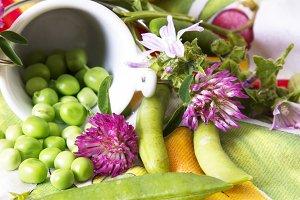 bucket of green peas