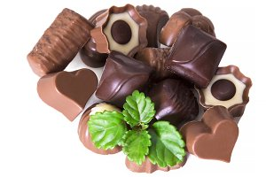 assortment of chocolate bonbons