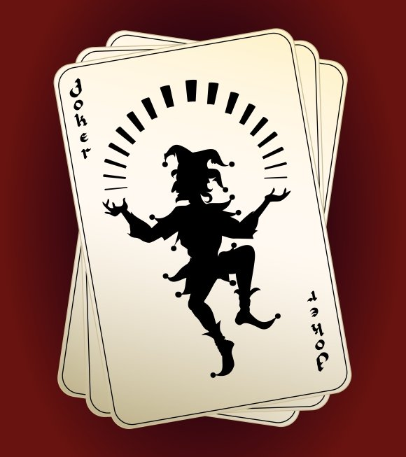 Joker Silhouette On Playing Cards Graphic Objects Creative Market