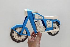 DIY Vintage bike - 3d papercraft