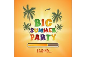 Big summer party loading poster.