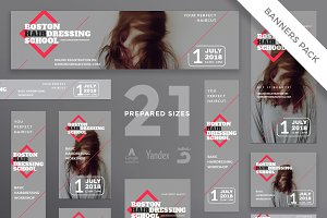 Banners Pack | Hairdressing