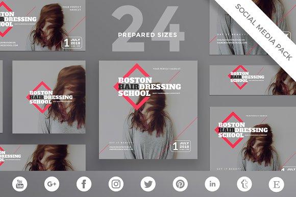Social Media Pack Hairdressing