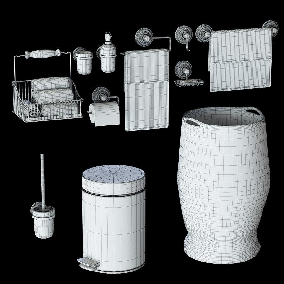 Suite for bathrooms for Vray, Corona in Objects - product preview 1