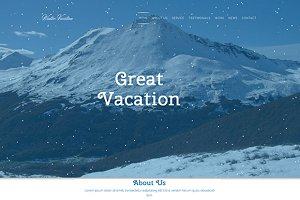 Winter Vacation – Travel HTML Theme
