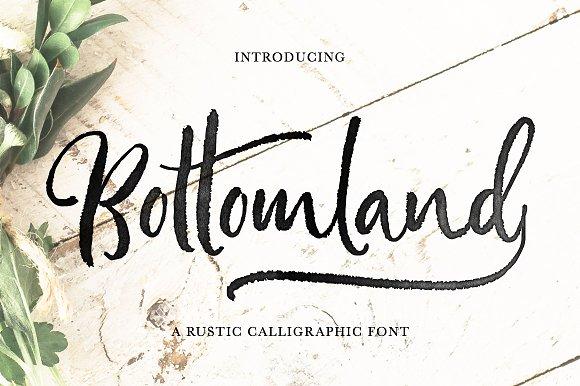 Bottomland Ink Script