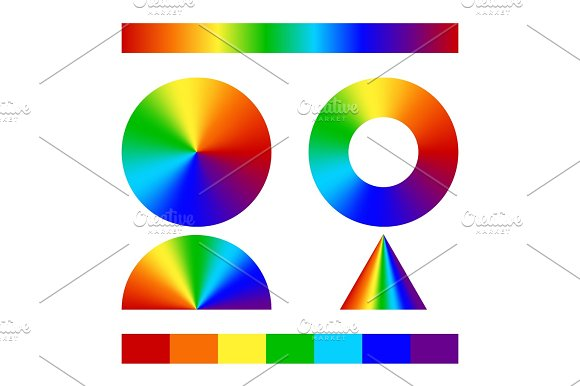 Multicolor Conical Gradient
