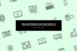 The Electronics Outline Icons 25