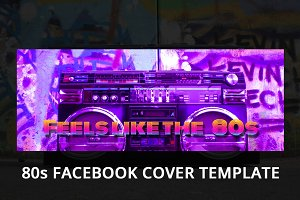 80s Facebook Page Cover Template