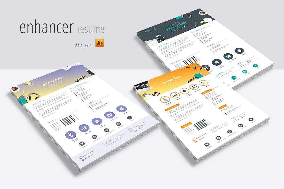 enhancer resumes resume templates creative market