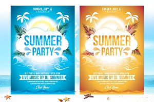 Summer Party Flyer Template v2