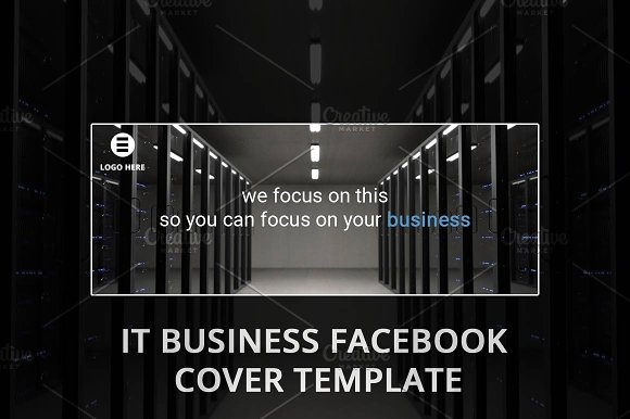 TECH COMPANY FACEBOOK PAGE TEMPLATE