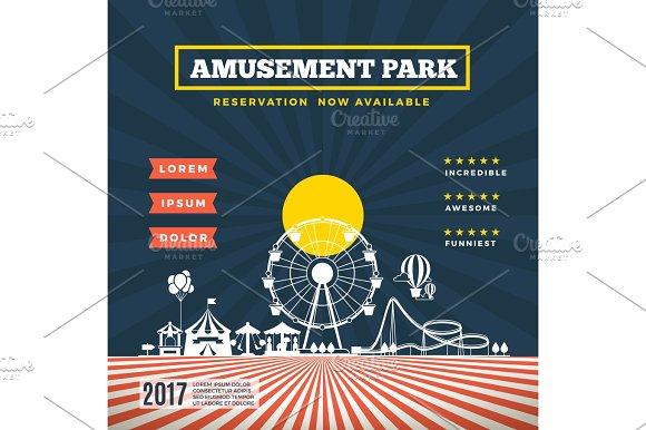 Vector Amusement Park Theme Background