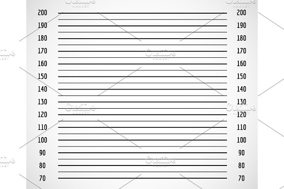 Photo Background Criminal Police Mugshot With Centimeter Scale Vector Illustration
