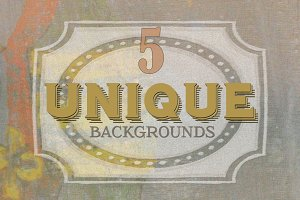 5 UNIQUE BACKGROUNDS