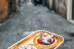 Chocolate & fruit sweet